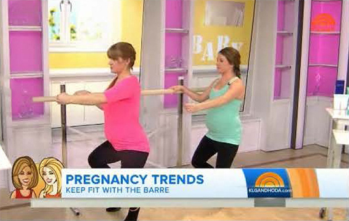 Ballet Barre helps pregnant women keep fit
