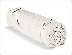 Natural Cotton Yoga Mat Rolled