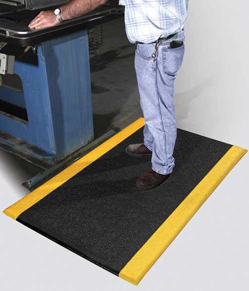 Safety Anti Fatigue Mat With Yellow Osha Borders