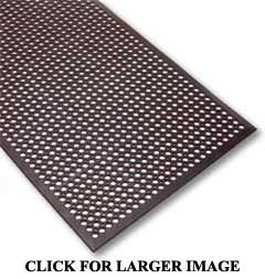 Rubber Floor Mat With Drainage Holes