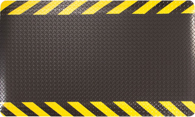 Fatigue Mat 1116 Thick Yellow Safety Borders And Diamond Top