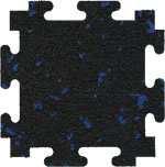 Blue Fleck Rubber Floor Tiles