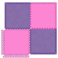 Pink Interlocking Foam Play Mats