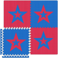 Garage Flooring - Red/Blue Stars