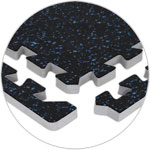 Black/Blue Rubber Flooring