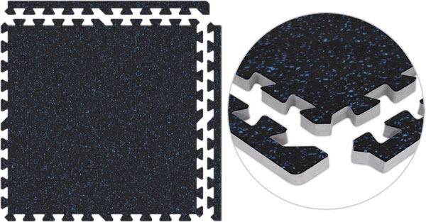 Home Gym Flooring Interlocking Rubber Floor Tiles