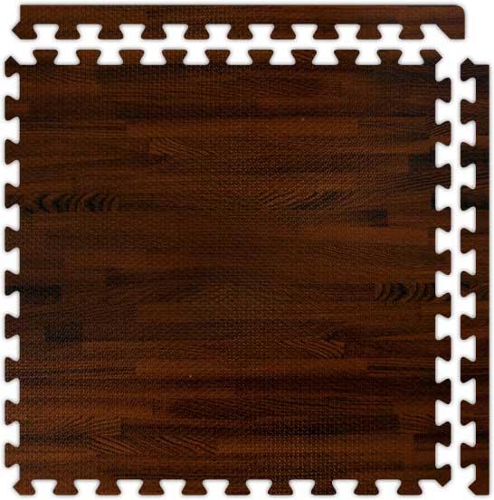 Exercise Flooring SoftWood Interlocking Foam Floor Tiles
