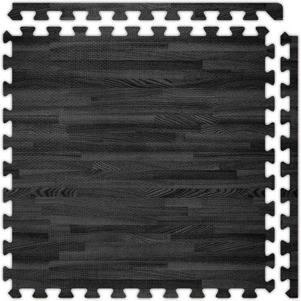 Exercise Flooring With Wood Design Interlocking Foam Mats