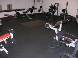 Rubber Exercise Room Flooring