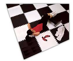 Exercise Room Flooring - Interlocking Foam Tiles