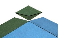 Bounce Back Rubber Tiles Outside Corner Installation