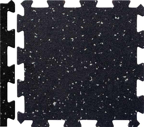 Interlocking Rubber Gym Floor Tiles 24ct