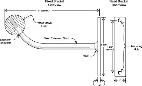 Instructions For Fixed Wall Mount Ballet Bar