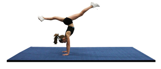 Practice cheer mats and gymnastics mats with carpet top for Used gymnastics spring floor