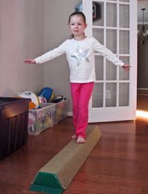 Balance Beam: Foam Sectional Beam