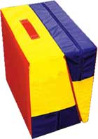 Cheese Mat Folded -  Makes Great Gymnastics Spotting Blocks