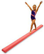 Pink Practice Balance Beam For Kids