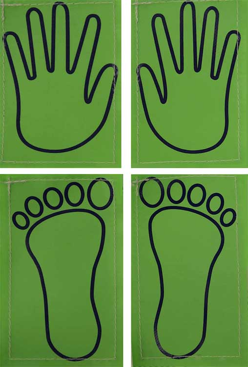 Hand And Foot Position Markers