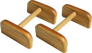 Handstand Parallettes - Wood Parallettes For Gymnastic Handstand Training and More.