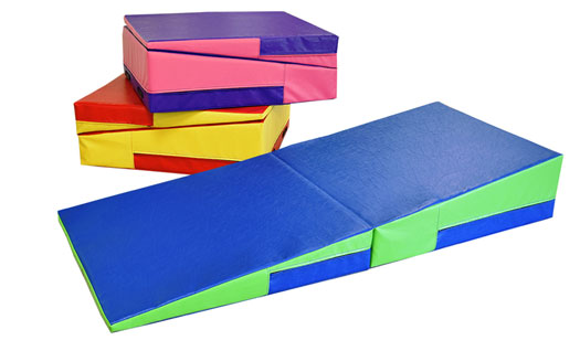 Blue Gymnastic Incline Mats