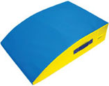 Foam Mounting Block in Blue with Yellow Sides