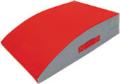 Mini Mounting Block in Red with Gray Sides
