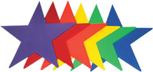 Vinyl Poly Pads - Rainbow Stars
