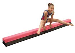 Pink Balance Beam for Gymnastics
