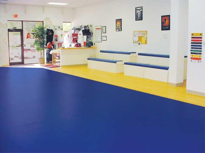 Seamless Floor For Martial Arts Gym