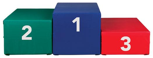 Gymnastics Award Stand Using Sectional Gymnastics Blocks
