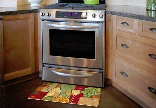 Decorative kitchen floor mat for sink or stove stain proof Decorative kitchen floor mat