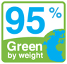 95% green by weight