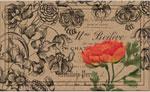 Home Door Mat - Vintage Floral Peony