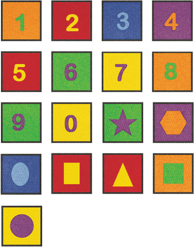 Educational Mats For Kids Numbers Amp Geometric Shapes Rugs