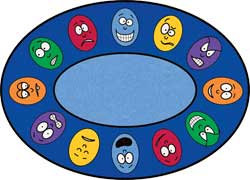 Oval Kids Rugs: Expressions