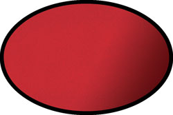Red Oval Rug