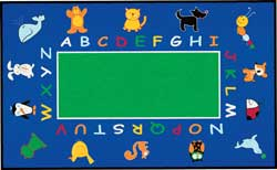 Educational Carpets and Rugs: Fun With Animals Rugs
