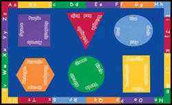 Classroom Carpets - Learning Carpets: Billingual Shapes and Colors