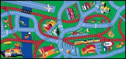 Highway Play Rug For Kids