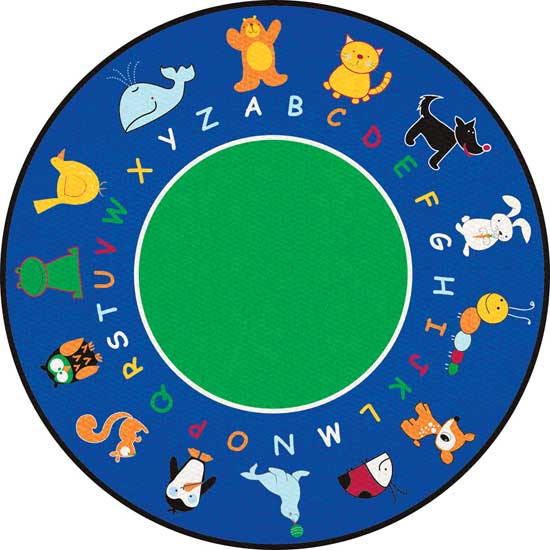 Classroom carpets and rugs for kids for Round rugs for kids
