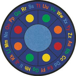 Classroom Rugs: ABC Dots School Rug