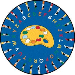 Round Rugs For Kids: Paintbrushes ABC Carpet