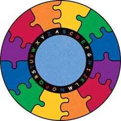Classroom Carpets and Rugs: Round ABC Puzzle Mat