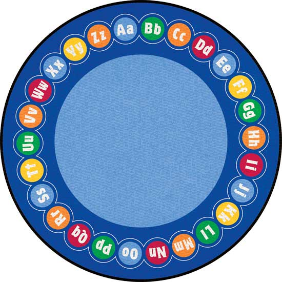 Round classroom carpets and rugs for kids for Classroom rug