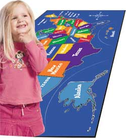 Educational Carpets and Rugs make learning fun in the classroom or at home.