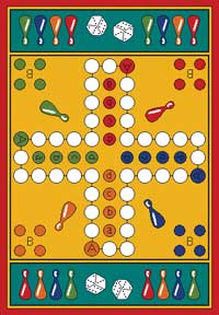Game Rug - Parcheesi