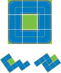 Kids Play Mat: Ride On Squares