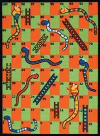 Kids Game Rug: Snakes & Ladders