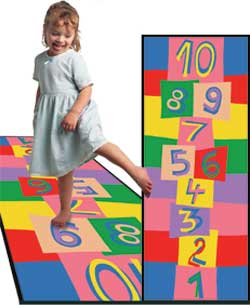 Hopscotch Rug - Kids Play Carpets
