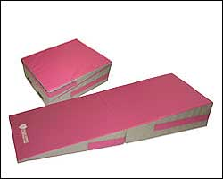 Gymnastic Incline Mats in Pink